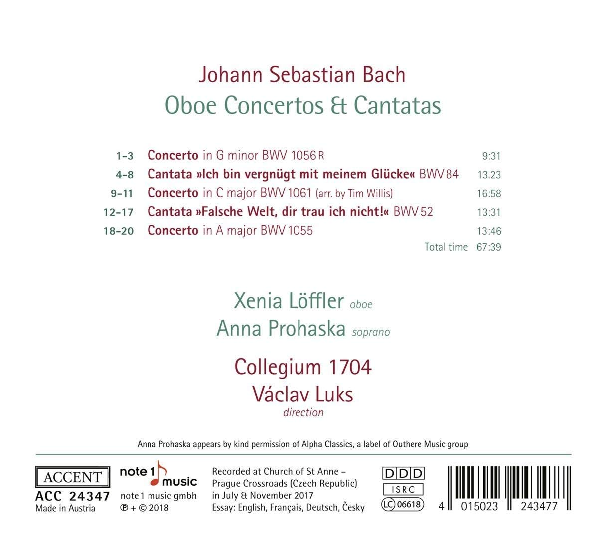 Vaclav Luks & Collegium 1704 - Bach Cantatas & Other Vocal Works